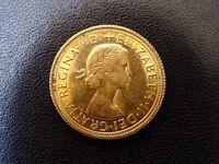 Full gold Sovereign Elizabeth 1966 graduated EXTREMELY FINE