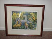 Limited edition number 234 of 850 picture of Ducks and ducklings 54 cms x 46 cms see pictures