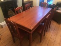 Sheesham Dining Table and 6 Chairs £150