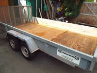 INDESPENSION CHALLENGER TWIN AXEL HEAVY DUTY GALVANISED TRAILER 12ftX5ft10.5""