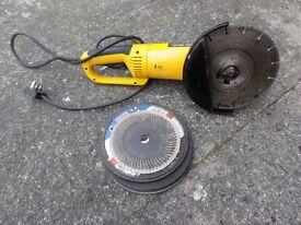 Disc Cutter/Grinder - mains electric - 230/240 volts. 230 mm diameter.