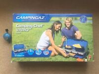 Brand New In Box- Campingaz Camping Chef Vario Stove + Grill- Regulator included- Festivals- Cooking