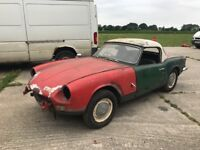 1969 Triumph Spitfire mk3 barn find restoration project
