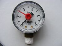 Pressure Gauge by Wika - 50 mm bottom entry 0 - 10 Bar
