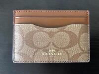 Coach Classic Print Card Holder