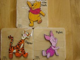 Wooden Puzzles. Disney Characters.
