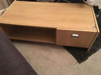 Side table with cupboard free to collect wood look brown