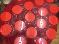 Large plastic sweet jars