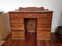 Oak antique desk - pre loved but good condition