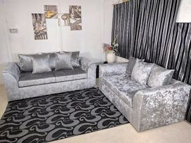 **SPECIAL OFFER** BRAND NEW JULIE CRUSH VELVET CORNER OR (3+2) SOFA EXPRESS DELIVERY!!!