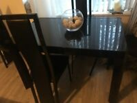 Black Gloss Dining Table