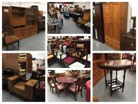 ** FURNITURE - CHAIRS, TABLES, DRESSING TABLES, DRAWERS, WARDROBES, SOFAS, CABINETS, VINTAGE **