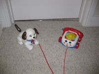 Baby Boy Girl Toddler Fisher Price Pull Along Dog Puppy Telephone Toy