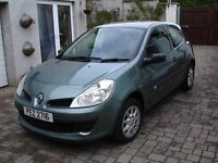 Renault Clio Expression DCI 88. £30 Tax, 55mpg. MOT'd 30/11/17. Metallic Green Last serviced 23/8/16