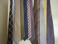 assortment of mens ties