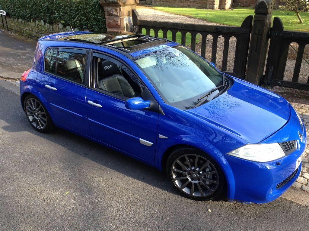 renault megane renaultsport 225 rare ultra blue 5 door panoramic roof leathers facelift r26 in. Black Bedroom Furniture Sets. Home Design Ideas
