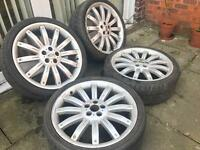 22 INCH GENUINE RANGEROVER LANDROVER OVERFINCH ALLOY WHEELS WITH TYRES
