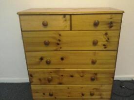 Pine bedroom drawers