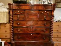 Large victorian scotch mahogany chest of drawers