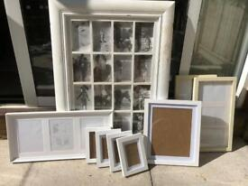 Mixed Set of White/Cream Picture Frames