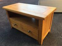 Brooker Solid oak entertainment unit TV table