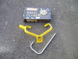 Caravan/Trailer Wheel Lock