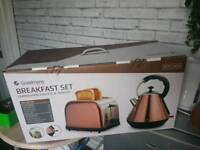For sale cooper kitchen stuff kettle and toaster still in box not even opened pick up only
