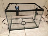 24 L Fish Tank with heater and filter