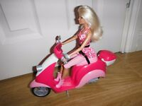 Barbie Glam Scooter & Doll New Condition