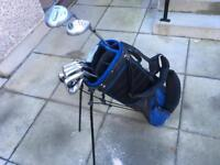 Callaway irons golf clubs set, acer driver & 3 wood. Putter & Wilson golf bag.
