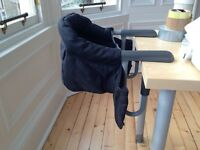 Inglesina Fast Evolution Black Highchair - like new