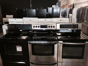 HUGE SALE ON STOVES ASSORTED STYLES !!! ONE YEAR WARRANTY