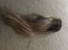 Blonde human hair wig