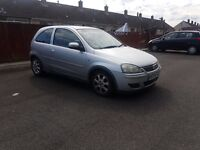 Diesel Vauxhall Corsa 54 reg in silver ,low insurance group ,px welocme
