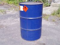 Steel Drums 205 litre barrels
