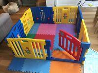 Playpen + foam floor tiles