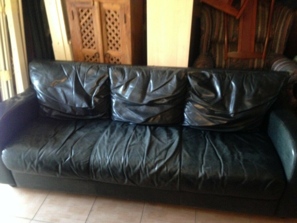 Marvelous Vintage Retro Leather Three Seater Sofa Great Looking Piece Great Patina Local Delivery Possible In Cricklewood London Gumtree Gmtry Best Dining Table And Chair Ideas Images Gmtryco