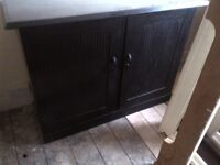 large hand-made kitchen cabinet or unit or cupboard can deliver