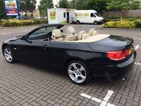 2007 BMW 320i 2.0 HARDTOP CONVERTIBLE 2DR PETROL AUTOMATIC BLACK, 86K MILES