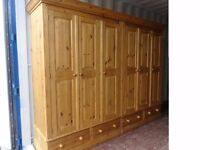 Very Large Hand Made Quality Solid Pine Wardrobe,Can Deliver