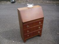 Lovely Small Oak 60's Lebus Writing Bureau Desk