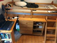 Single cabin bed with plenty of storage