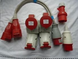 415 volt/16 amp sockets and connectors, 3 phase