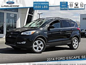 2014 Ford Escape **SE*CUIR*NAVI*CAMERA*A/C 2 ZONES**