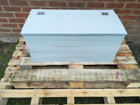 Light gray blanket box