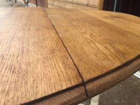 Vintage Solid Oak Drop Leaf (Gate Leg) Dining Table