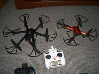 Pair Quadcopter drones Mjx R/C & JJRC H12 with chargers and leads. .