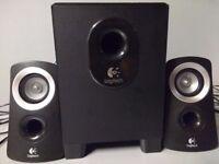 Logitech Multimedia speakers 2.1 model Z313 25 watts. In good working condition