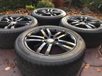 "Genuine 20"" Audi Q7 S-Line Black Edition Alloy wheels & Tyres 6mm 5x130"