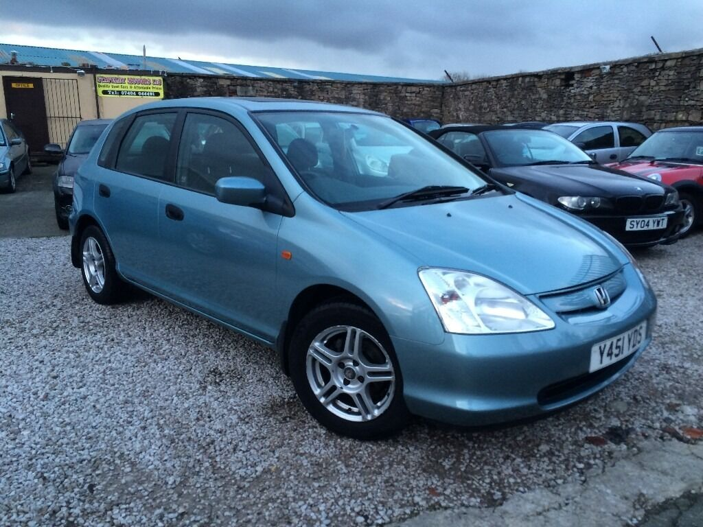 honda civic 1 4 i se 5dr full service history 2001 y reg hatchback automatic gear box in